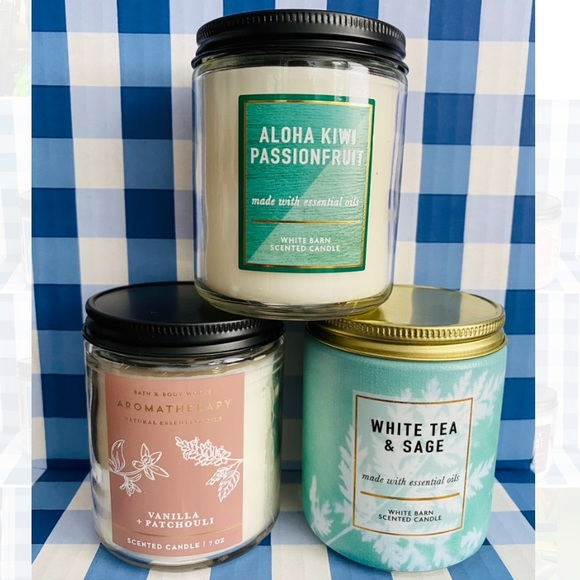 3-pc Bath and Body Works candles NEW